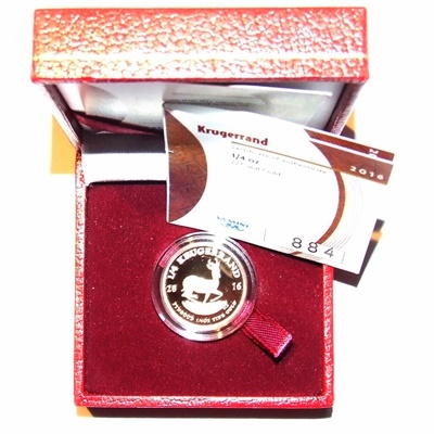 2016 Gold Proof 1/4oz KRUGERRAND